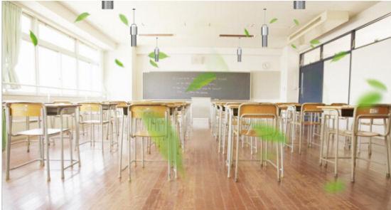 教室安装负离子空气净化器效果示意图